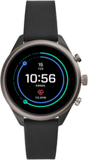 FOSSIL SPORT SMARTWATCH BLACK SILICONE FTW6024